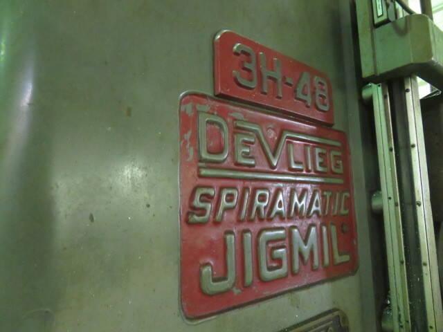 "3"" DEVLIEG 3H-48 SPIRAMATIC JIG MILL. STOCK # 0949221"