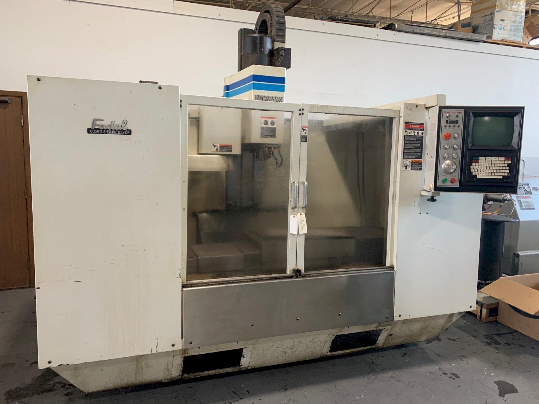 USED FADAL MODEL 4020 3-AXIS CNC VERTICAL MACHINING CENTER, Year 1997, Stock # 10696