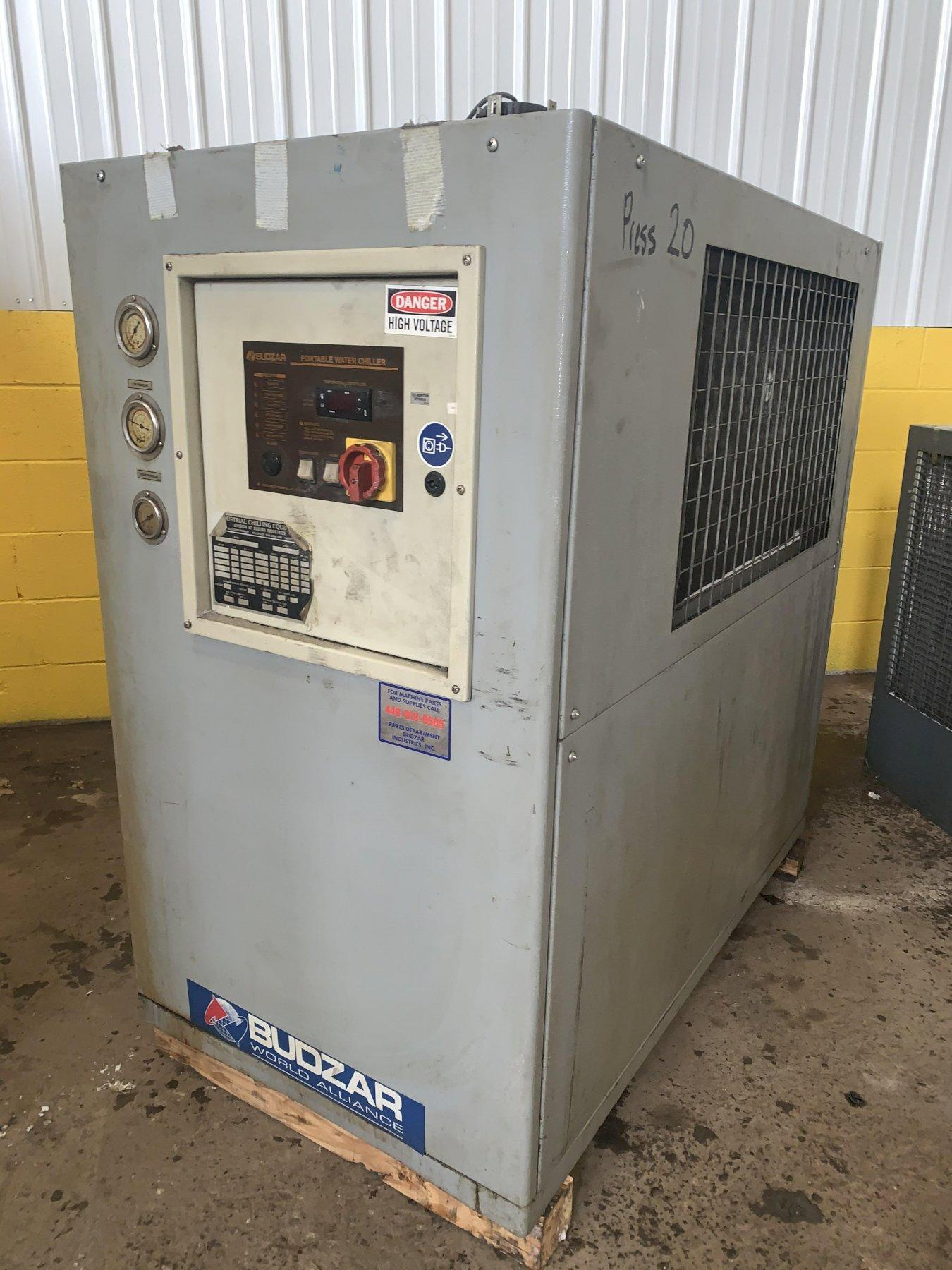 400 PSIG BUDZAR MODEL #BWA-AC-05-FCB-12-0-000 PORTABLE WATER CHILLER: STOCK 12529