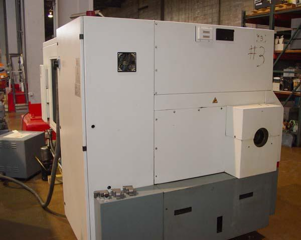"CINCINNATI HAWK 200 Siemens Acramatic 2100DI CNC Control, 8"" 3-Jaw Power Chuck, 20.87"" Swing over Bed, 11.81"" Swing Over Cross, 26.8"" Max Turning Length, Programmable Tailstock, New 2001."