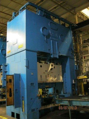 600 Ton USI Clearing SE2-600-108-48 Straight Side Press