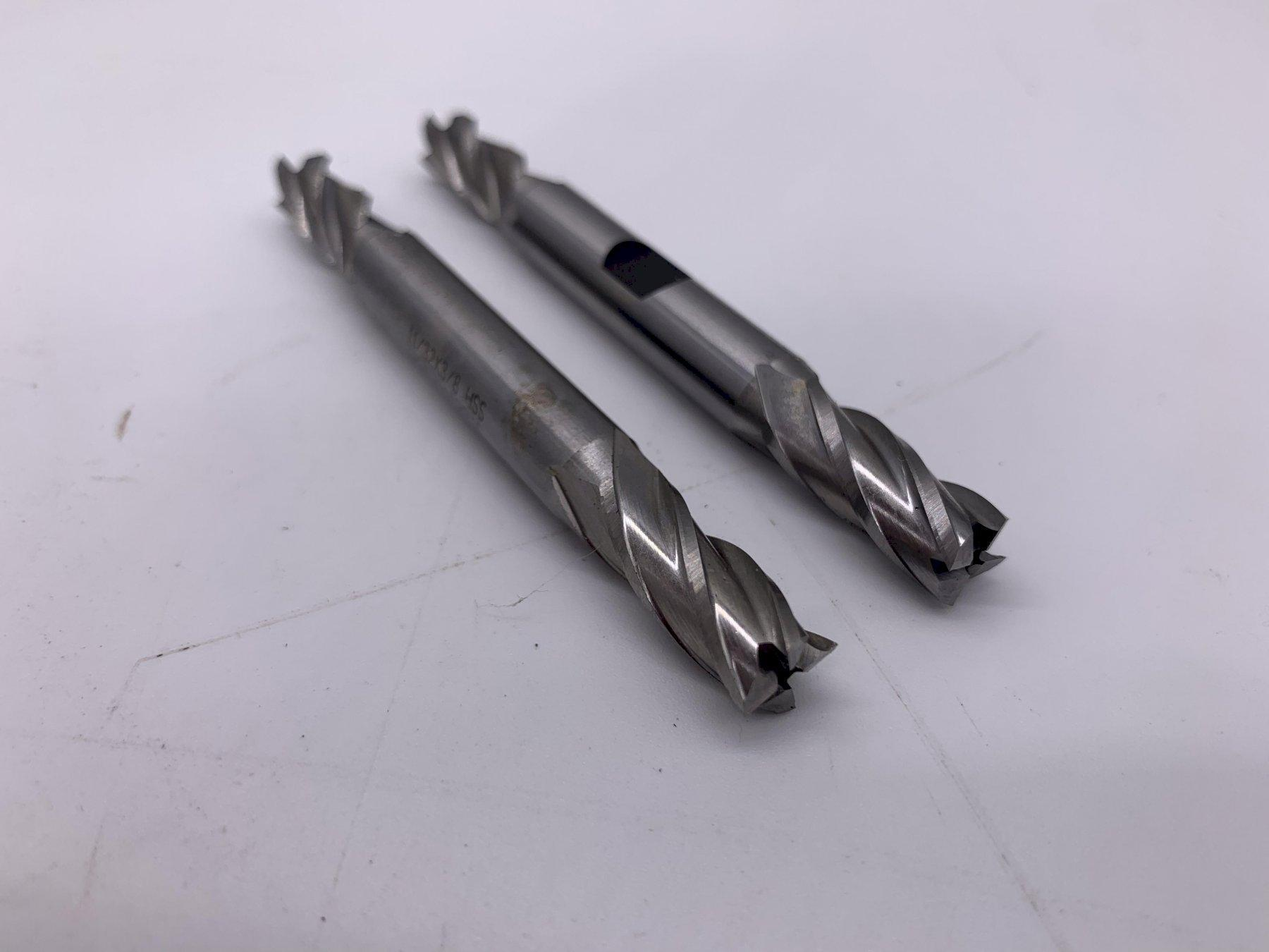 """11/32 x 3/8"""" MORSE HSS DOUBLE ENDED FLUTE END MILLS [MATCHING SET] STOCK #15524"""