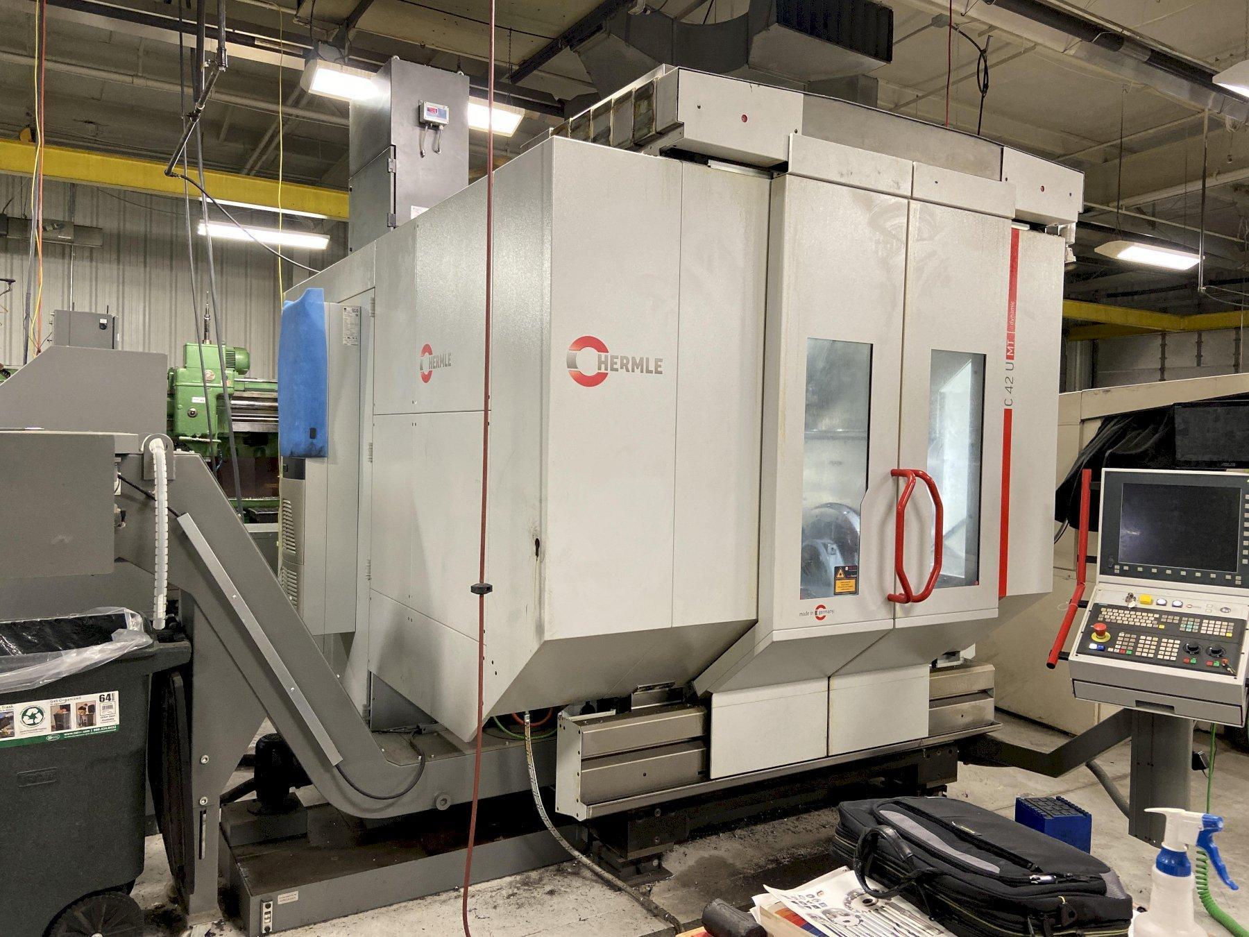 "Hermle C-42U-MT CNC 5-Axis Vertical Machining/Turning Center, Siemens 840D, 29.5"" Dia. Table, 31.5""/31.5""/19.6"" Travels, 18K Spindle, 42 ATC, HSK T63 Taper, Many Options, R&D Facility, 2013"