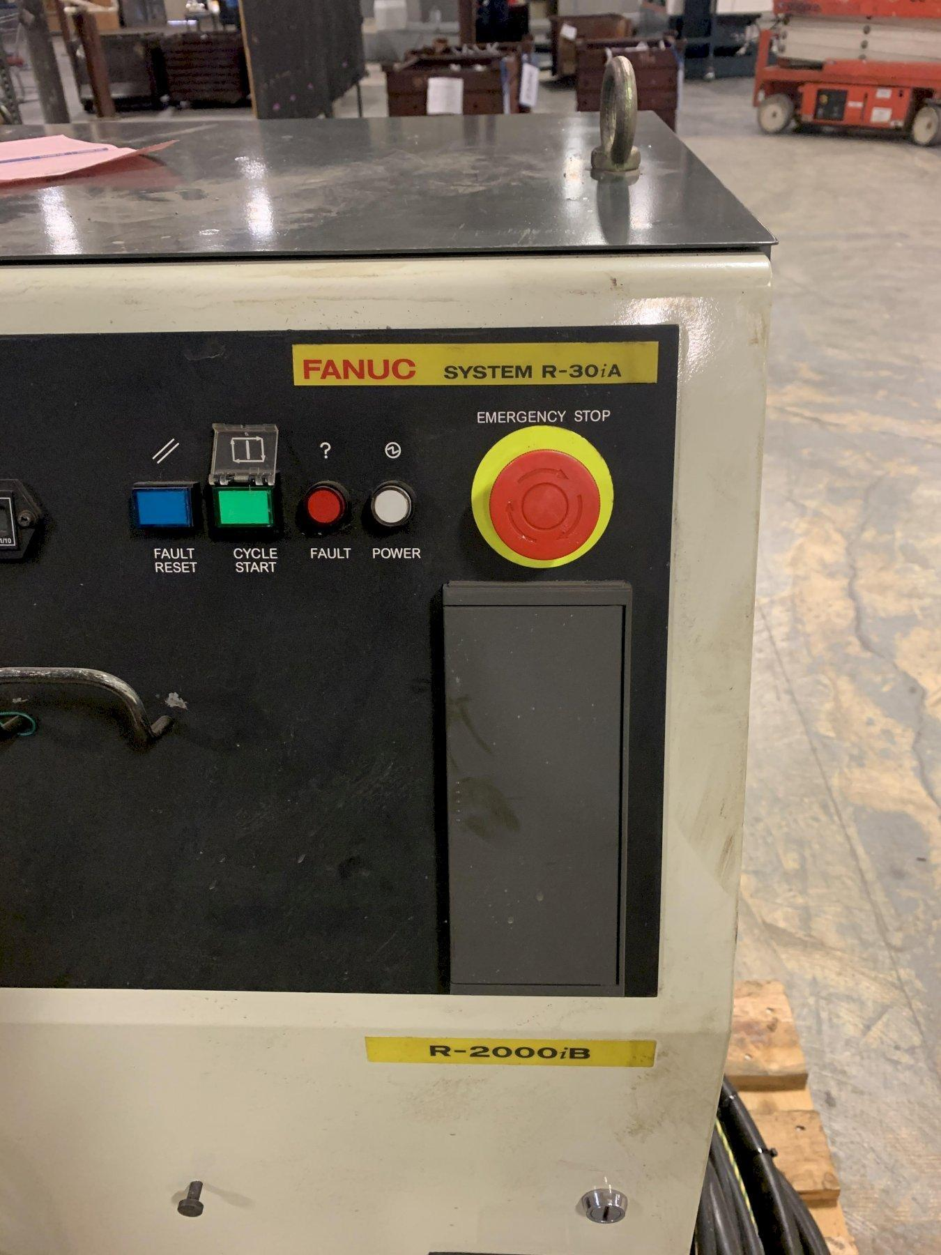 FANUC ROBOT WITH READY SOFTWARE LOADED AND PENDENT Integrate Colombo Spindle Colombo Spindle Motor - RC 110/22 5AX HSK-F 63 CR PD to Fanuc R2000 Robot with all necessary electronic and pneumatic components., Variable speed Drive, allen bradley plc. Tool Tree for up to 5 different tools