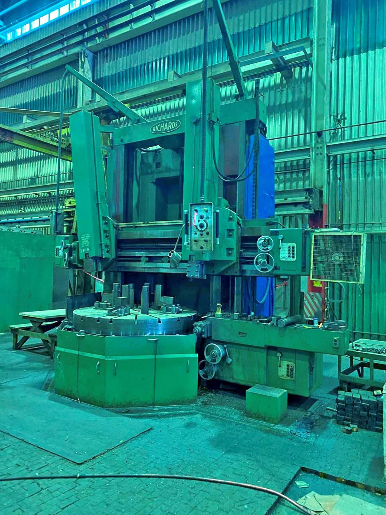 "USED, 72"" RICHARDS MODEL BM06 VERTICAL BORING MILL"