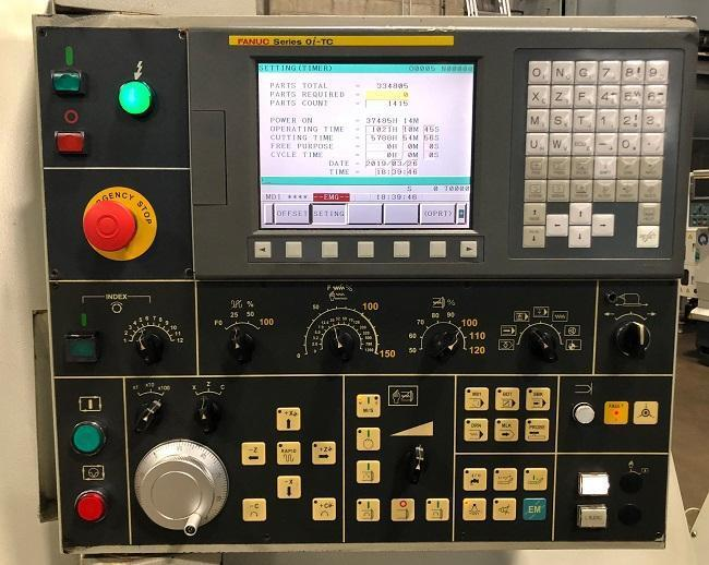 """HARDINGE TALENT 10/78 with LIVE TOOLING, Fanuc 0i-TC, 10"""" 3-Jaw Chuck, 23"""" Swing, Prog. Tailstock w/ 23"""" Centers, 3500 RPM, 12 Station Turret, New 2007."""