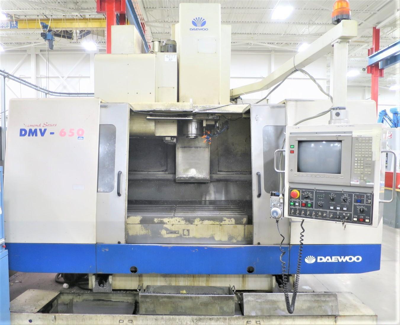 DAEWOO DMV-650 3-AXIS 50 TAPER CNC VERTICAL MACHINING CENTER