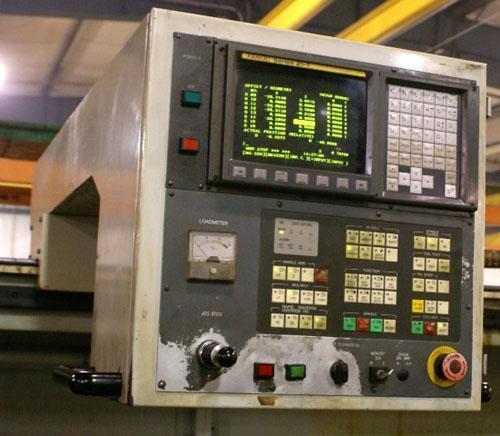 "HWACHEON MEGA 95 38"" X 196"", FANUC 21TB CNC"