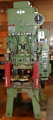 "45 Ton KOMATSU No. OBS45, 3.9""Str, 9.8"" SH, 80 SPM, 27"" x 17"" Bed, 1979, Clean"