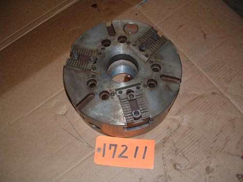 "12"" Cushman, 3-Jaw,2 7/8"" thru hole,serrated jaws,A1-8 back Flame treated"