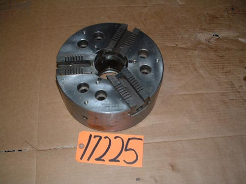10″ SP, 3- Jaw Power,2 3/4″ thru hole,Flat Back