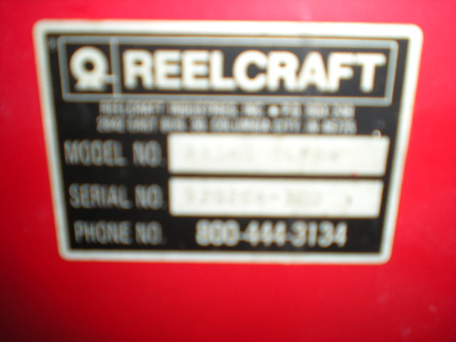 REELCRAFT SPRING RETRACTABLE AIR HOSE REEL