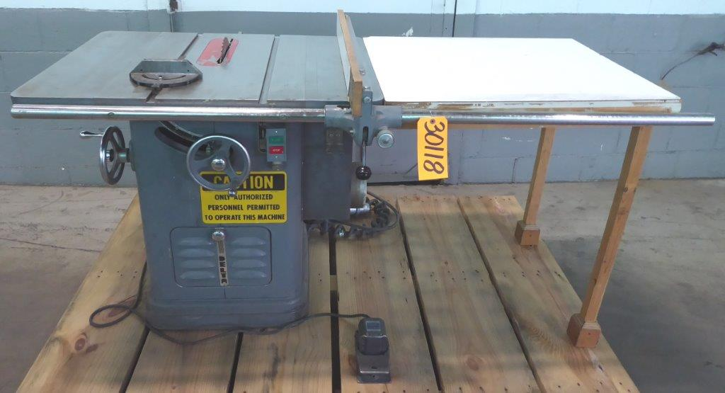 """TABLE SAW: 10"""" Delta Unisaw, Tilting Arbor,  2 HP, Table Extension, Clean"""