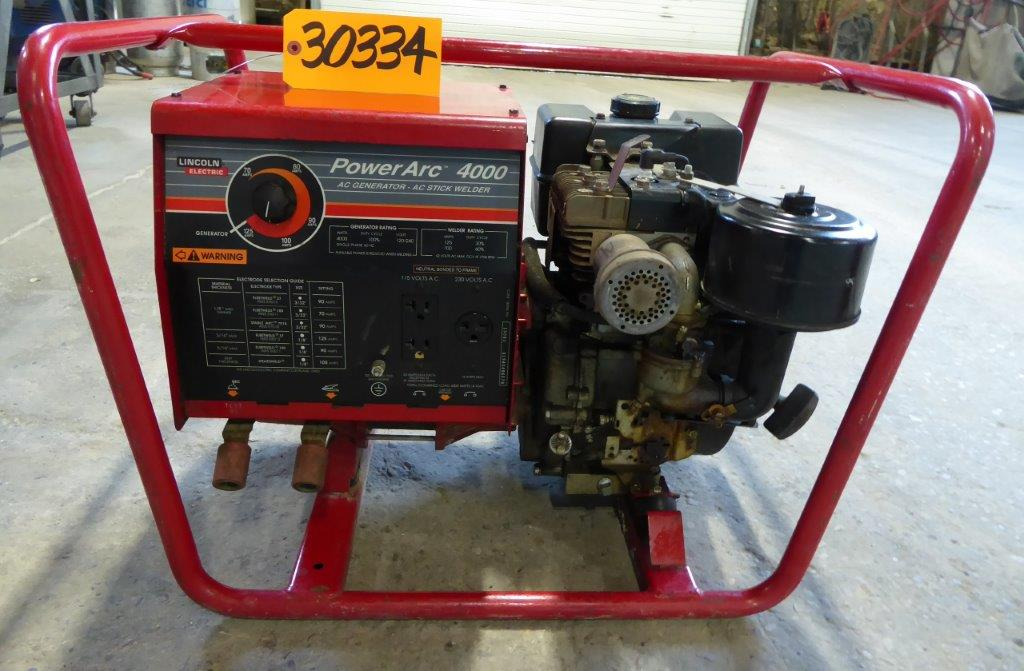 125 Amp Lincoln Power Arc 4000, AC Stick Welder/4000 Watt AC Generator, Gas Powered, Nice