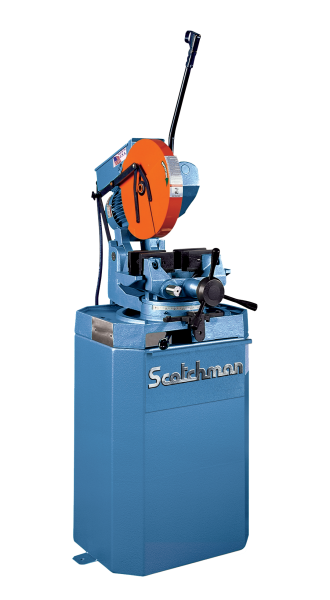 14″ SCOTCHMAN No. CPO 350LT, Miter, 22/44 RPM, 2″ Solid Rounds, Coolant, New