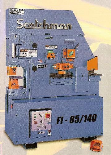 "6"" x 6"" x 1/2"" SCOTCHMAN Ironworker, No. FI8510-20M, Hyd., 85 Ton, Five Stations, New"
