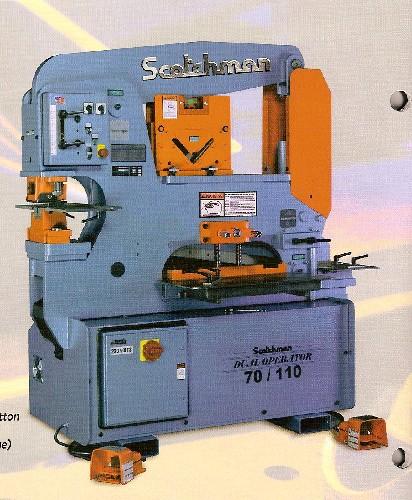"6"" x 6"" x 1/2"" SCOTCHMAN, No. DO 70/110-24M, 70 Ton, Dual Operator, New"