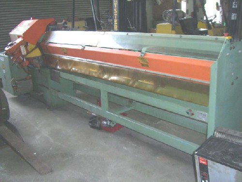 PEDRAZZOLI, SCL 102-3000, Program Cutting Line, 12″ Blade, Unloader, 1995