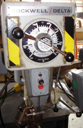 "15"", ROCKWELL, Hand, Bench Model,V-Speed 450-4700 RPM, ,14"" x 11"" Tbl., 3/4 HP"