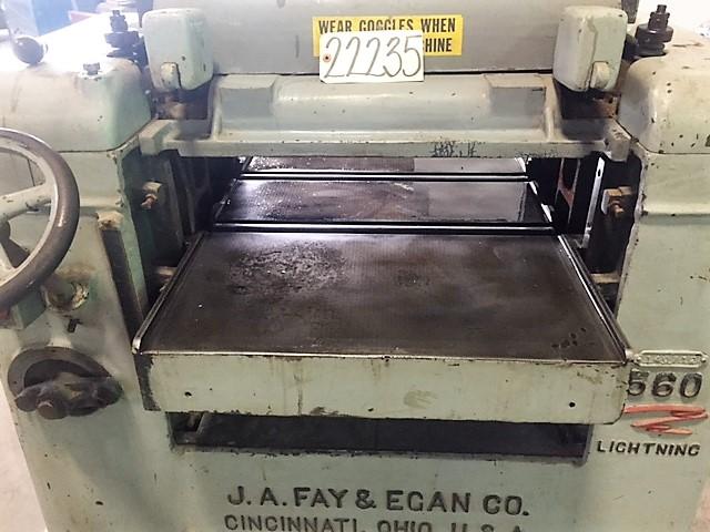 "24"" FAY & EGAN No. 560, Wood Working Planer, 1 Phase"