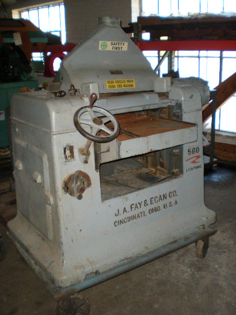 24″ FAY & EGAN No. 560, Wood Working Planer, 1 Phase