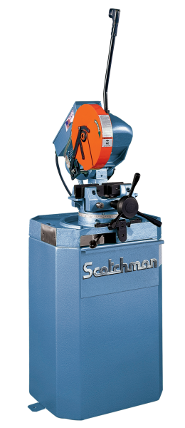 10″, SCOTCHMAN, No. CPO275SS, Miter, 60 RPM, 1.5″ Solid Rounds, Coolant, New