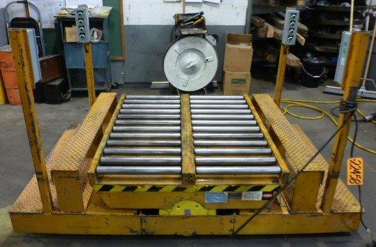 3000 Lb. ECOA, Traveling Lift Table, 44″ x 48″ Plaform w/Rollers, 55″ Raised, 20″ Lowered