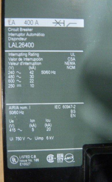 400 Amp, SQUARE D, LA400A,