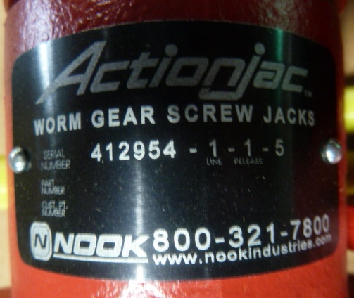 Actionjac, Ball Screw Jacs, Worm Gear Screw Jack, 1 Ton High Lead, New, (6) Available