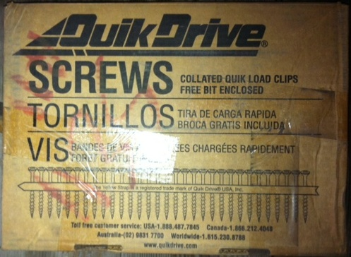 """Screws,No.X1S1016, 5/16 HEX #10x1"""",Approx.1500 screws per box(33)Boxes Available"""