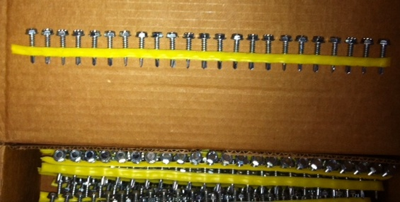 "Screws,No.X1S1016, 5/16 HEX #10x1"",Approx.1500 screws per box(33)Boxes Available"
