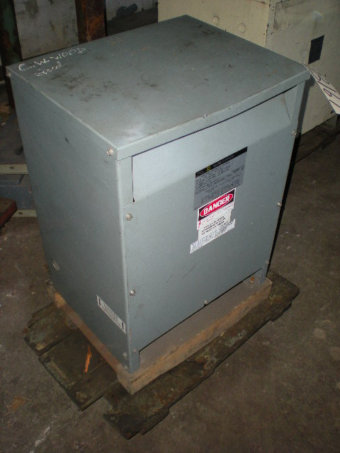15 KVA Square D Transformer, 480 / 240 Volt Primary, 240 / 120 Volt Secondary, 60 Cycle, Single Phase
