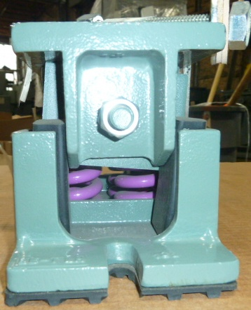 SPRING ISOLATION MOUNT: VMC, SPG MTG LKE-56, Gray with 4 purple springs,  (6) Available