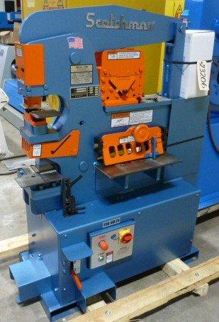 4″ x 4″ x 3/8″ SCOTCHMAN Hydraulic Ironworker, No. 50514-EC, Hyd., 50 Ton, Punch, Bar Shear, Notcher, 1 Phase, NEW