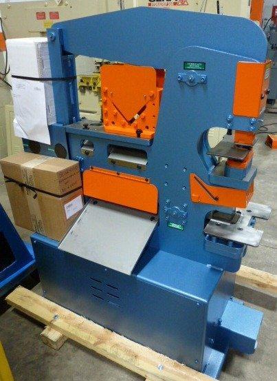 """4"""" x 4"""" x 3/8"""" SCOTCHMAN Hydraulic Ironworker, No. 50514-EC, Hyd., 50 Ton, Punch, Bar Shear, Notcher, 1 Phase, NEW"""