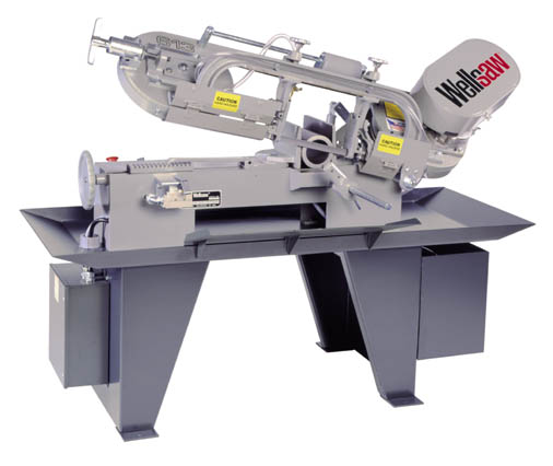 6″ x 13″ WELLSAW Horizontal Band Saw No. 613, 50-250 FPM, 1 HP, 3/4″ Blade, Coolant, New