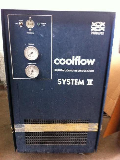 Neslab Coolflow Liquid/Liquid Recirculator System II, Part # 323003260101, SN 90MML45840-60, 115 Volts, 60/Single Phase, Pump Type: PD-2