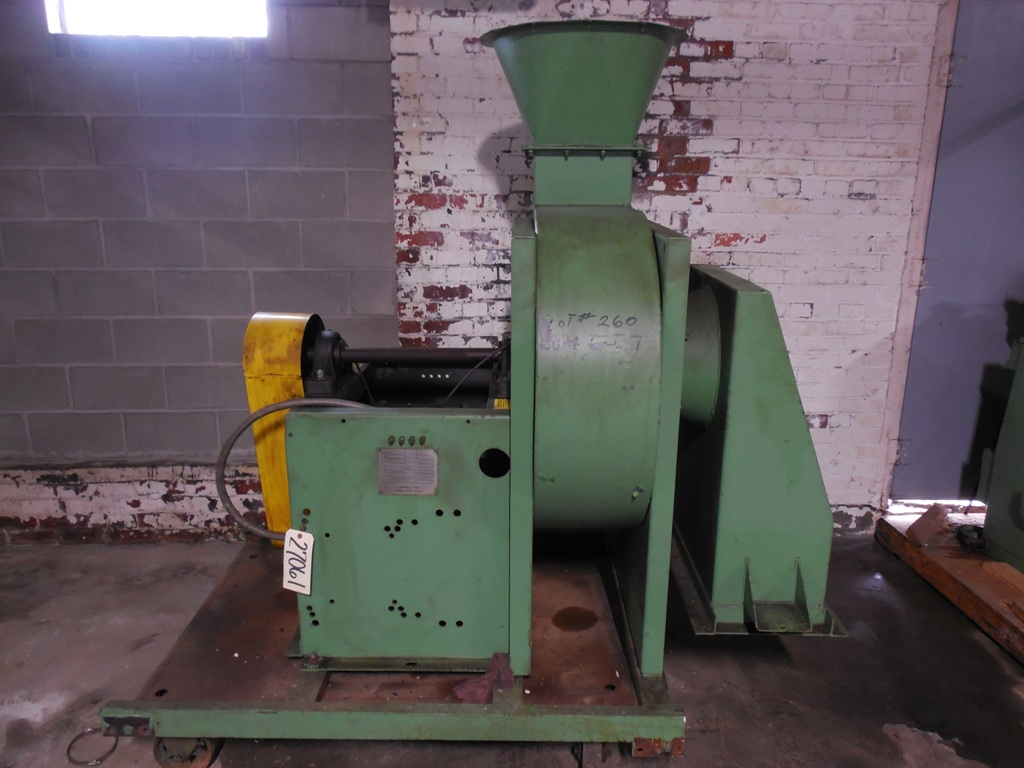 Hartzell Fan, No. 052-22AHM3, SN 65863-02, 3.940 CFM, 15 HP, 1800 RPM, 460 Volts 60/3 Phase, 12/09/88