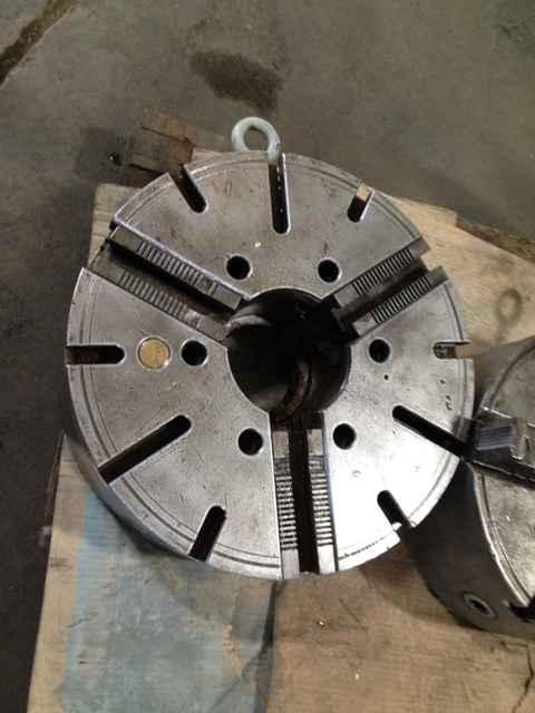 "21"" 3 JAW GISHOLT STEEL CHUCK"