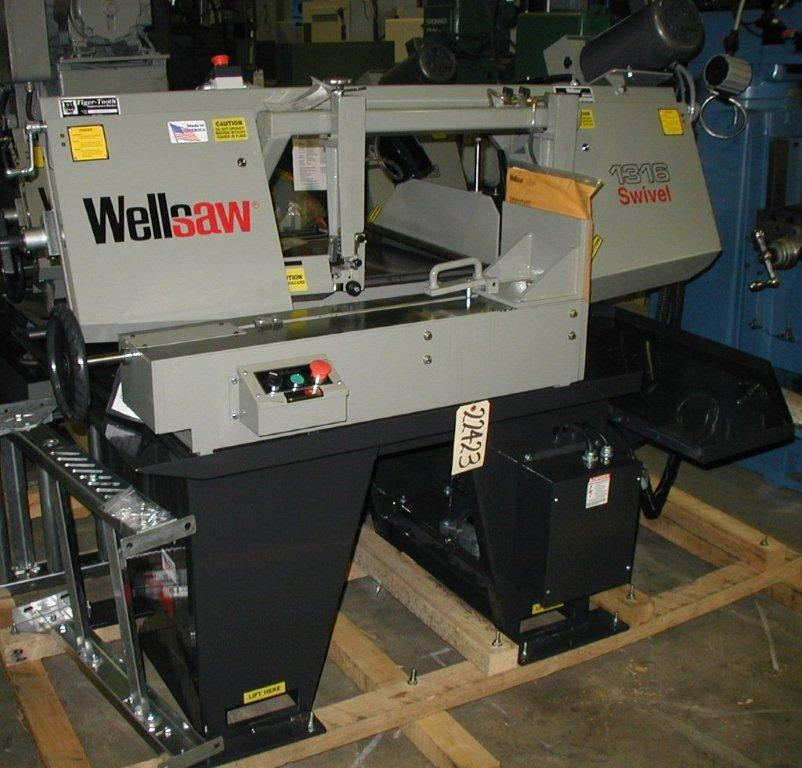 "13"" x 16"" WELLSAW, No.1316S-SA, Semi-Automatic, Miter, 70-375 FPM, 1"" Blade, Coolant, 3 HP, New"