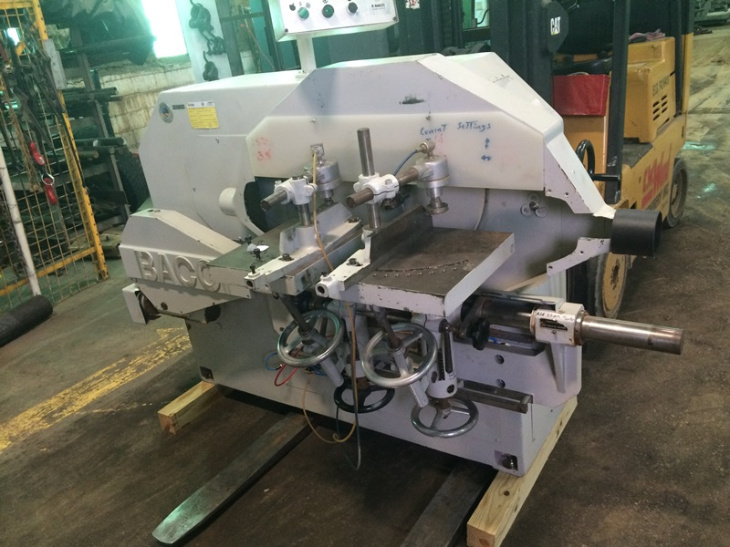 BACCI Twin Table Rounding Off Tenoning Machine, Model TSG2T