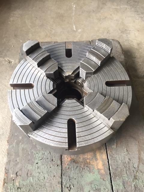 "15"" UNION STEEL 4-JAW MANUAL CHUCK"
