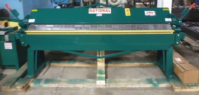 "14 Ga. x 8' NATIONAL Heavy Duty Box & Pan Brake No. U6-9614, 6"" Max. Depth Of Box, New-In Stock"