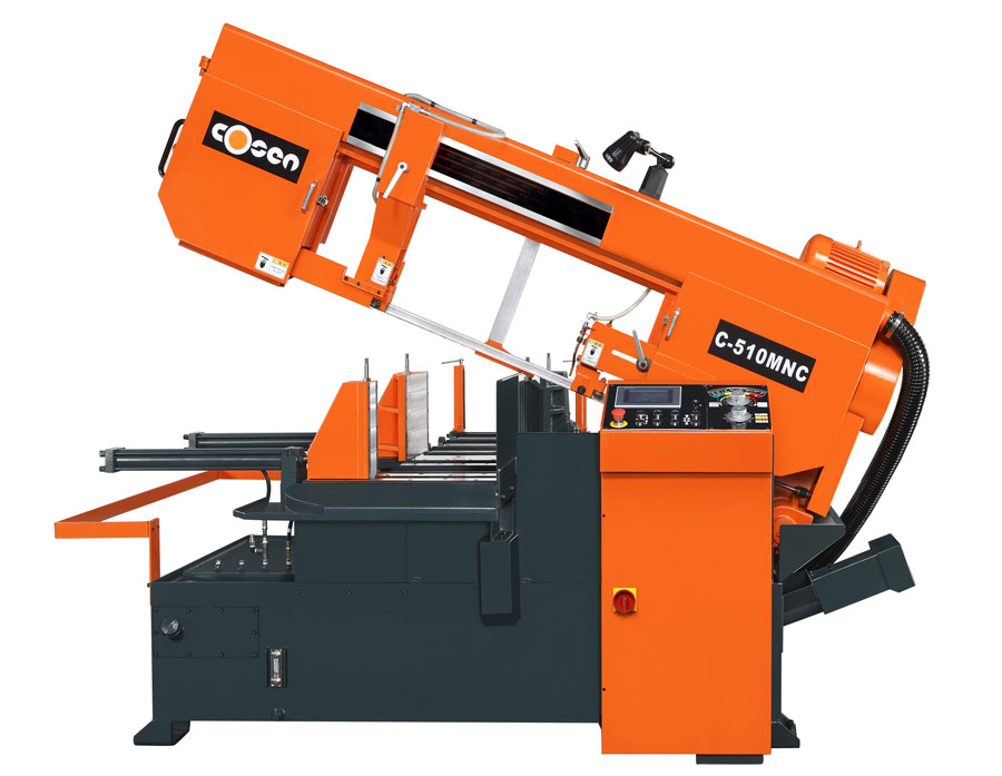 "13"" x 20"" COSEN C-510MNC, 14"" Rounds, Programmable Miter & Auto. Feed, 1.25"" Blade, 5 HP, New"