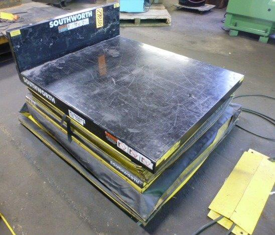 1000 Lb. SOUTHWORTH, Hyd., Lift & Tilt, 42″ x 48″ Platform, 1 Phase
