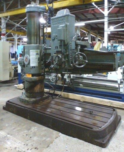 "6' x 17"" Cincinnati Bickford Radial Drill, 8-1700 RPM, 6 M.T.,  20 HP,  Nice"