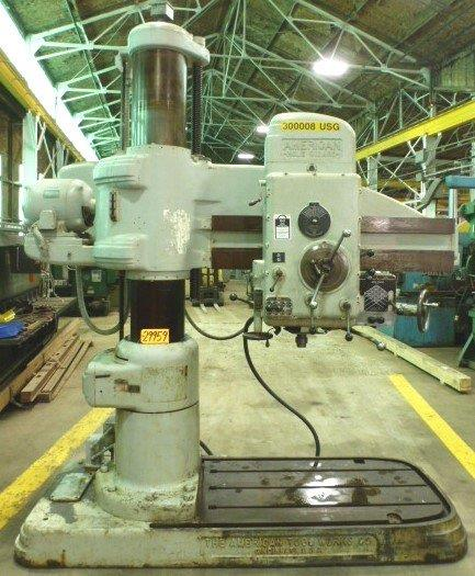 "4′ x 13″ AMERICAN ""Hole Wizard"", 25-2000 RPM, 5 M.T., 10 HP, Nice"
