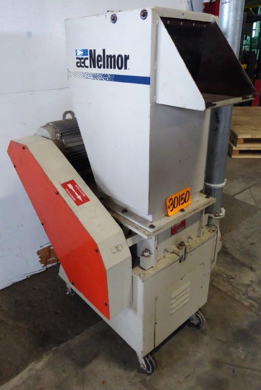 NELMOR Plastic Granulator No. G1012P1, 10″ x 12″ Opening, 10 HP, 1 HP Blower