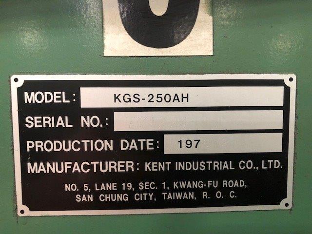 """8"""" x 16"""" KENT Surface Grinder No. KGS-250AH, 2-Axis Hyd., Perm. Chuck, Coolant, Clean"""