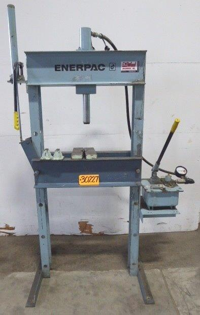 "25 Ton ENERPAC H-Frame Hydraulic Press No. IPH-2530,  Manual, 14"" Stroke, 29"" B.H."